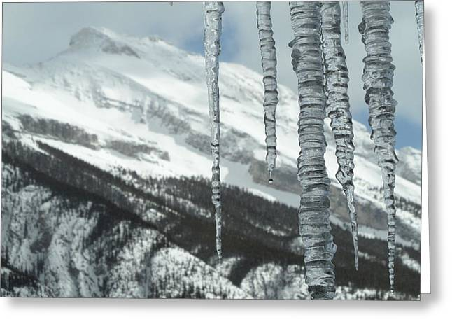Overhanging Snow Greeting Cards - Relative Processes Greeting Card by Mark Lehar