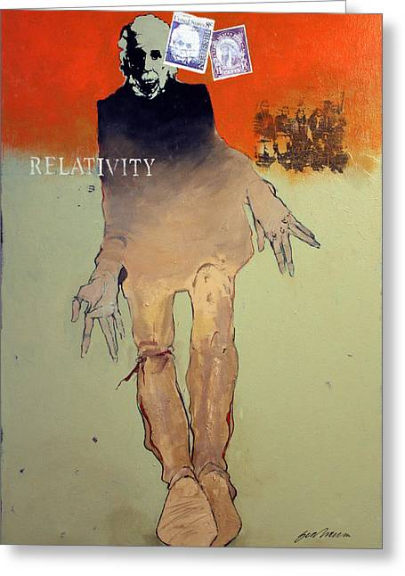 Postal Paintings Greeting Cards - Relativity Greeting Card by Bert Seabourn