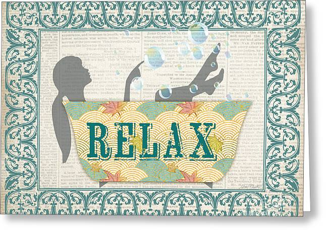 Renewing Paintings Greeting Cards - Relax-JP2697 Greeting Card by Jean Plout