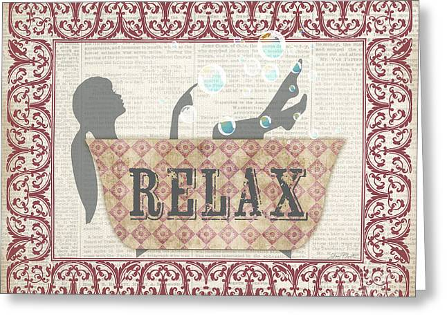 Renewing Paintings Greeting Cards - Relax-JP2699 Greeting Card by Jean Plout