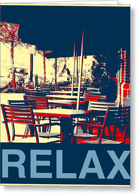 Relax Greeting Card by Marvin Blatt