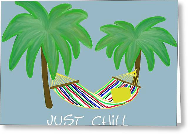 Lounging Pastels Greeting Cards - Relax Greeting Card by Priscilla Wolfe