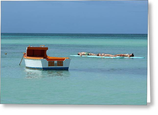 Sea View Greeting Cards - Relaxing at Sea Greeting Card by Joscelyn Paine