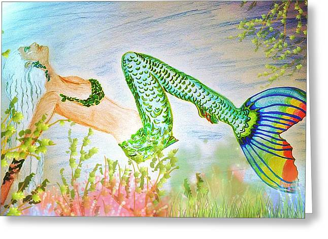 Book Cover Art Drawings Greeting Cards - Relaxing In The Shallows Greeting Card by ARTography by Pamela  Smale Williams