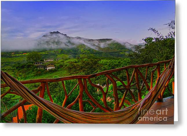 Madre Greeting Cards - Relaxing In Vilcabamba - Ecuador Greeting Card by Al Bourassa