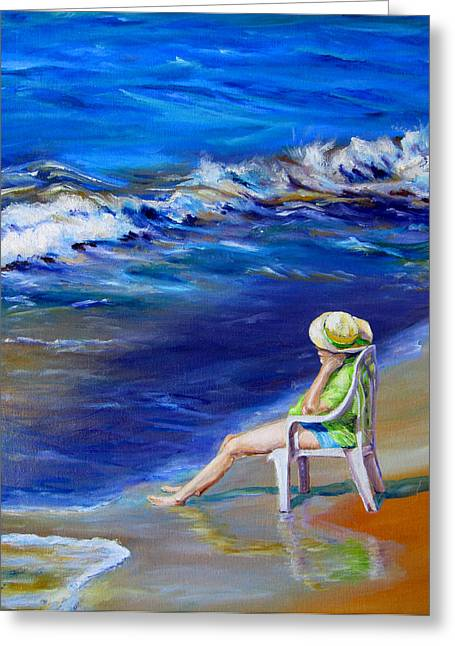 Diane Kraudelt Greeting Cards - Relaxing On The Outer Banks Greeting Card by Diane Kraudelt