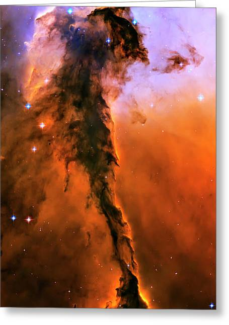 Hubble Photographs Greeting Cards - Release - Eagle Nebula 1 Greeting Card by The  Vault - Jennifer Rondinelli Reilly