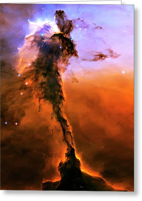 Hubble Photographs Greeting Cards - Release - Eagle Nebula 2 Greeting Card by The  Vault - Jennifer Rondinelli Reilly