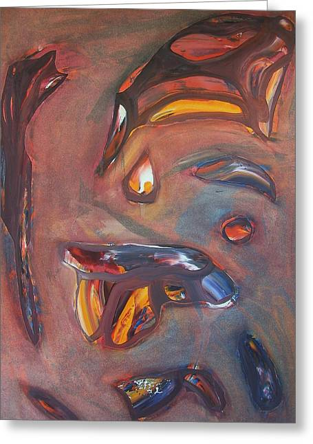 Tension Paintings Greeting Cards - Release Greeting Card by Maurice Noble