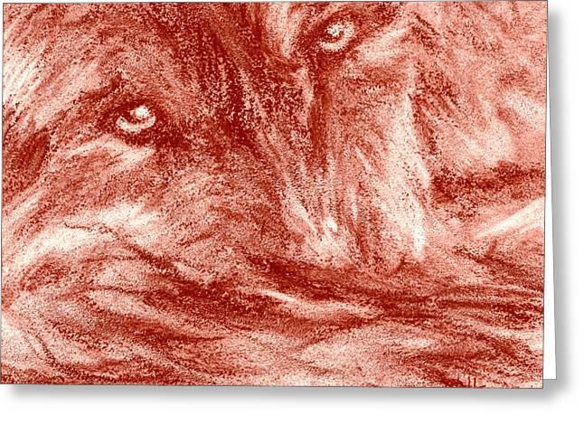 Seedling Wolf 0008 Greeting Card by David Herman