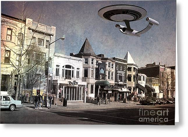 Enterprise Greeting Cards - Relic 6 - Adams Morgan Greeting Card by Walter Oliver Neal