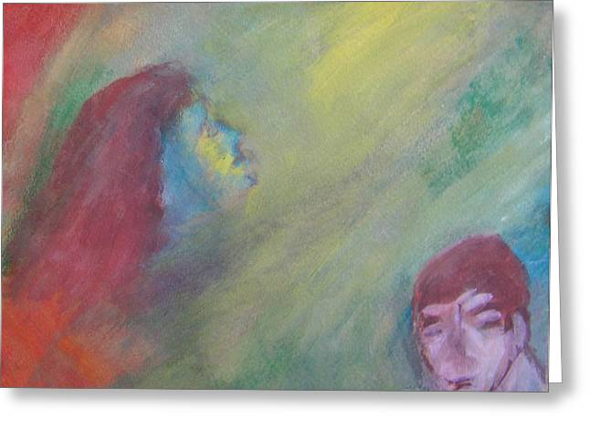 Fanatic Paintings Greeting Cards - Religious Fanatic Greeting Card by Judith Redman