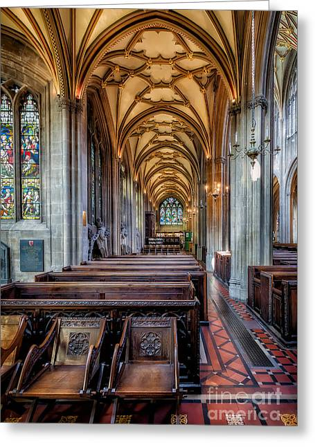 Vaults Greeting Cards - Religious Path Greeting Card by Adrian Evans