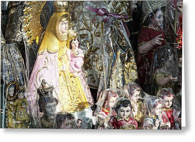 Sculpture For Sale Greeting Cards - Religious Statuettes For Sale Greeting Card by Skip Nall