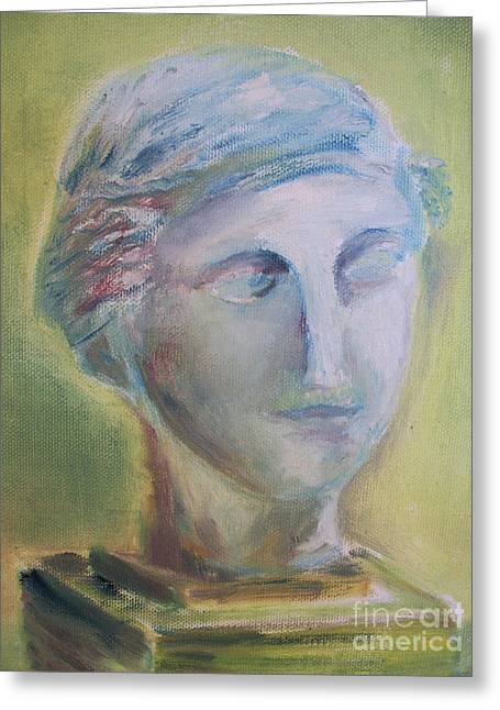 Bust Sculptures Greeting Cards - Remains of the Past Greeting Card by Paul Galante