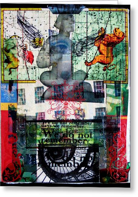 Spiral Staircase Mixed Media Greeting Cards - Remember Automatic Recall Greeting Card by Liz  London