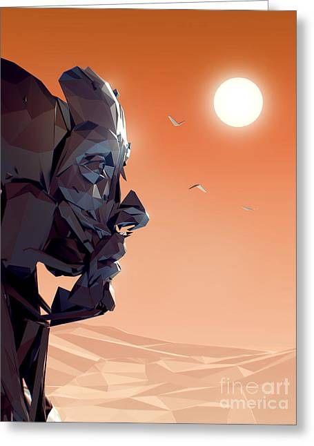Beautiful Face Greeting Cards - Remember Me Sunset Greeting Card by Pixel Chimp