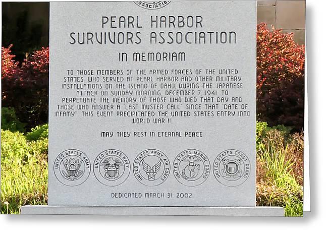 In Memoriam Greeting Cards - Remember Pearl Harbor - Keep America Alert Greeting Card by Kerri Farley