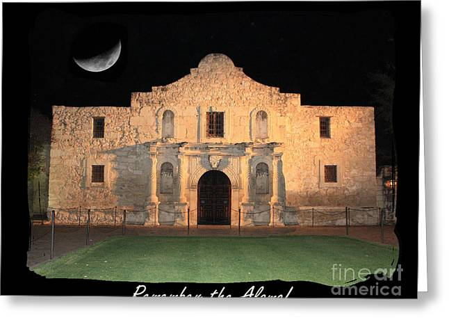 Remembering Greeting Cards - Remember the Alamo Greeting Card by Carol Groenen