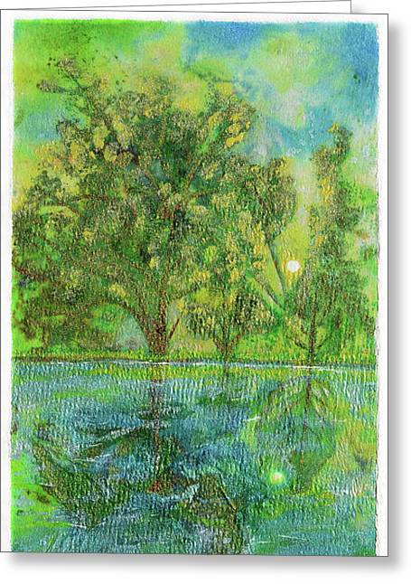 Remembering A Happy Place Greeting Card by Donna Blackhall