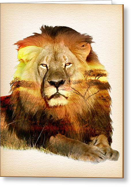 Zimbabwe Paintings Greeting Cards - Remembering Cecil The Lion Greeting Card by Nostalgic Art