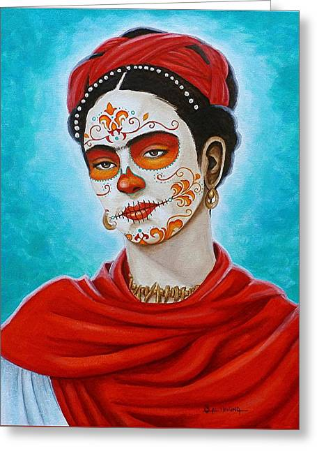 Remembering Frida Greeting Card by Al  Molina