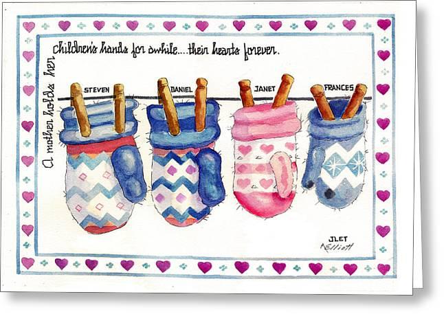 Sentiment Greeting Cards - Remembering Jan Greeting Card by Marsha Elliott