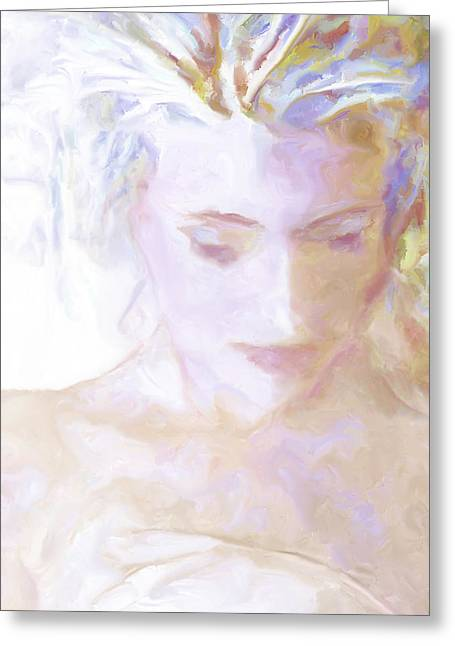 Self-portrait Greeting Cards - ...remembering... Greeting Card by Lee Haxton