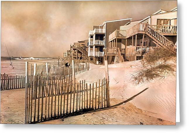 Topsail Island Greeting Cards - Remembering the Days Greeting Card by Betsy C  Knapp