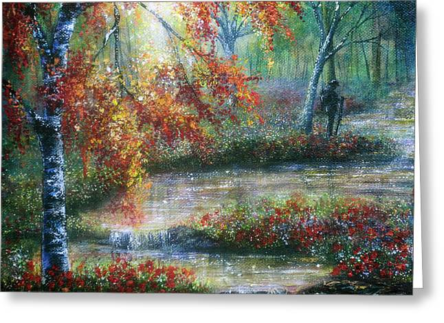 Kinkade Greeting Cards - Remembrance Waters Greeting Card by Ann Marie Bone