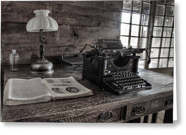 Typewriter Greeting Cards - Remington Standard  Greeting Card by David Wagner