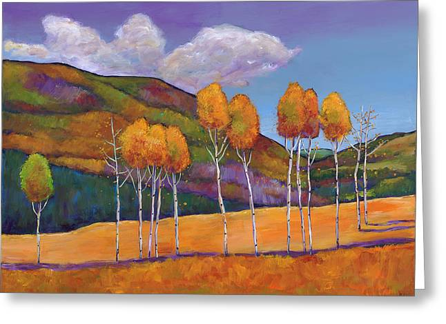 Autumn Aspens Greeting Cards - Reminiscing Greeting Card by Johnathan Harris