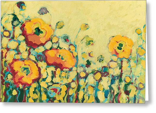 Yellows Greeting Cards - Reminiscing on a Summer Day Greeting Card by Jennifer Lommers