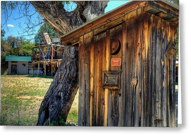 Saloons Greeting Cards - Reminising about the old West Greeting Card by Thomas  Todd