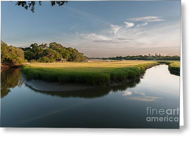 Mt. Pleasant Sc Greeting Cards - Remleys Park Greeting Card by Dale Powell