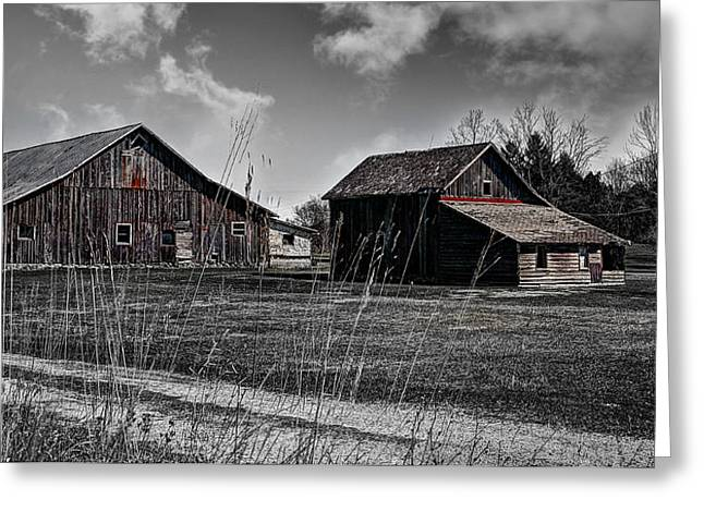 Planet Factory Greeting Cards - Remnants of an Old Barn Greeting Card by Deborah Klubertanz