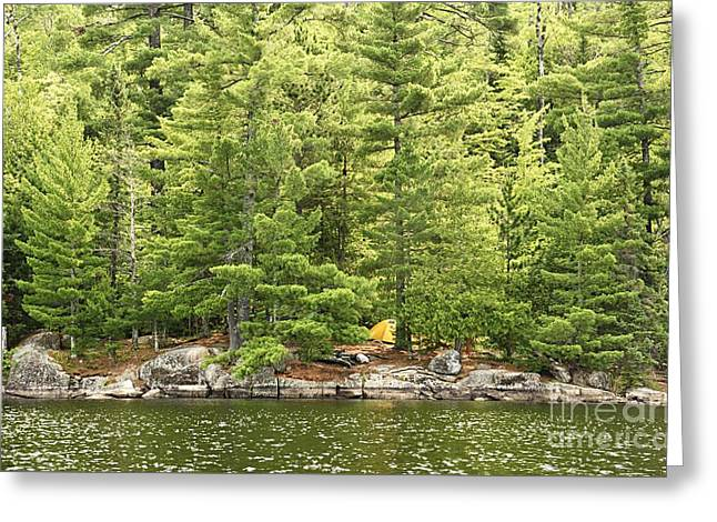 Remote Campsite Greeting Card by Larry Ricker