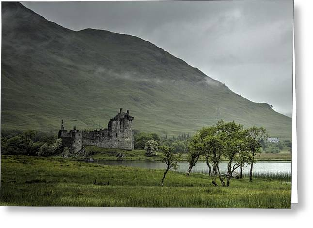 Kilchurn Castle Greeting Cards - Remote Greeting Card by Chris Whittle