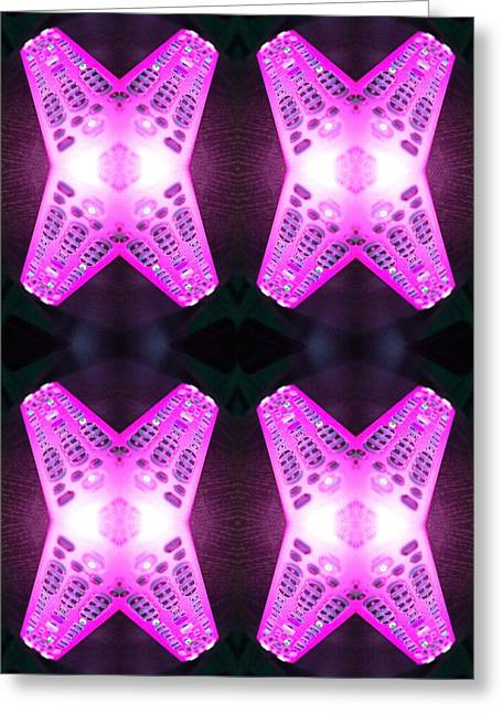 Digital Art Greeting Cards - Remote Madness Pink Greeting Card by Christina Martinez