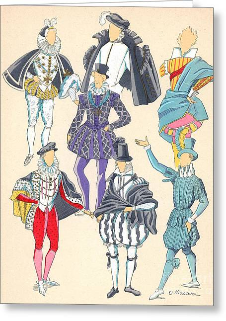 Apparel Greeting Cards - Renaissance Fashion, 17th Century Greeting Card by Science Source