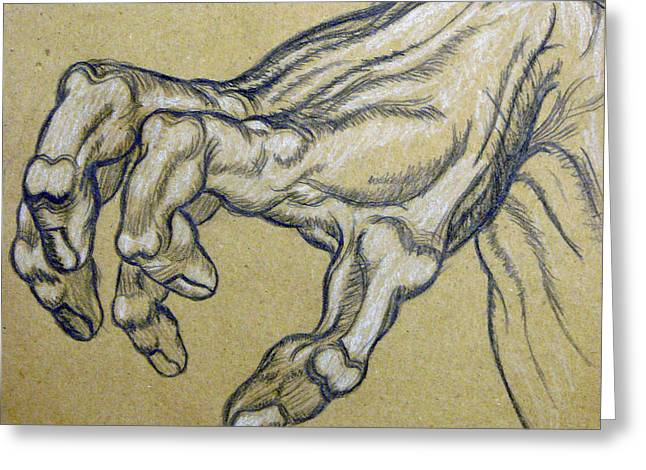 Cardboard Greeting Cards - Renaissance Hand Greeting Card by Bear Welch