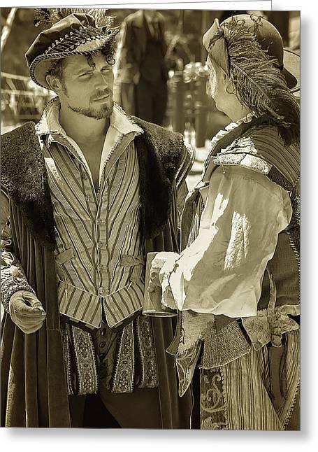 Renaissance Fairs Greeting Cards - Renaissance Men Greeting Card by Camille Lopez