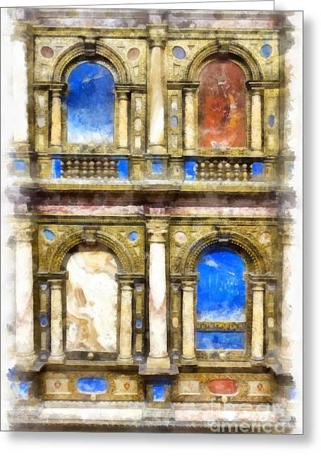 Renaissance Treasures Greeting Card by Edward Fielding