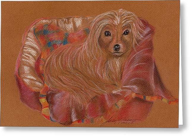 Toy Dog Greeting Cards - Renard retires Greeting Card by Joan Mansson