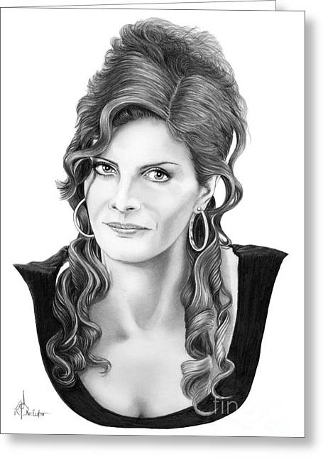 Rene Russo Greeting Card by Murphy Elliott