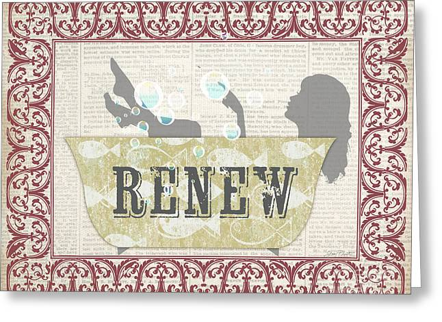 Renewing Paintings Greeting Cards - Renew-JP2700 Greeting Card by Jean Plout