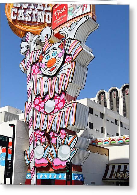 Reno Greeting Cards - Reno . Circus Circus Casino Greeting Card by Wingsdomain Art and Photography