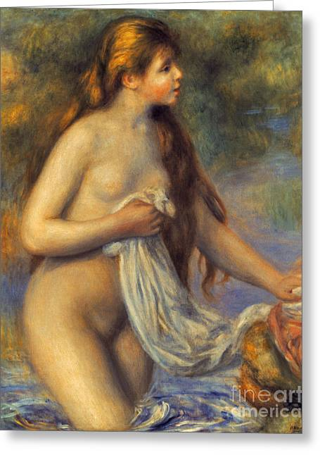 Renoir Greeting Cards - Renoir: Bather Greeting Card by Granger