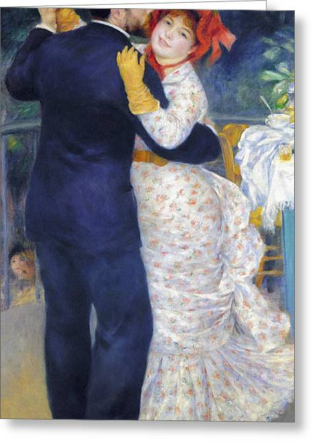 Recently Sold -  - Victorian Greeting Cards - Renoir: Dancing, 1883 Greeting Card by Granger