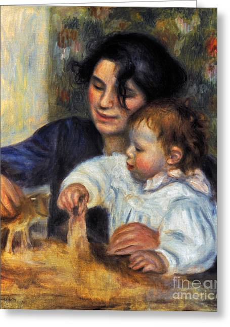 Gabrielle Greeting Cards - Renoir: Gabrielle And Jean Greeting Card by Granger